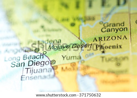 Closeup Mojave Desert California On Political Stock Photo Edit Now