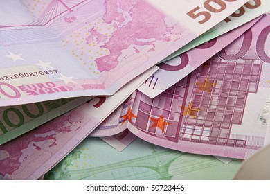 The closeup of money banknotes