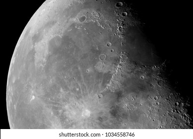 Close-up of the Moon surface. Main objects and areas: Copernicus, Mare Imbrium, Mare Vaporum, Plato, Archimedes, Mare Insularum, Alexander, Aristoteles, Sinus Iridum