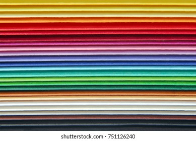 closeup of the multicolor paper