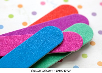Closeup of Nail Files for a Manicure