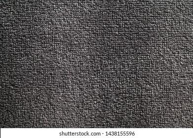 Close-up nano textile texture of gray towel