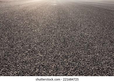 close-up new asphalt road