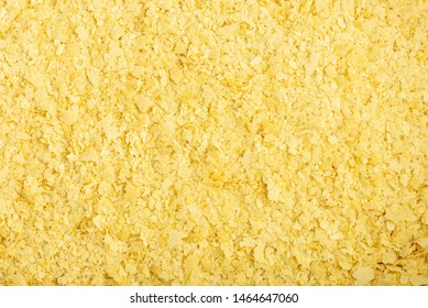 Closeup of nutritional yeast flakes