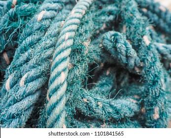 Close-up nylon rope. Nylon rope.
