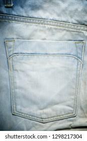 Close-up of an old cowboy pants.