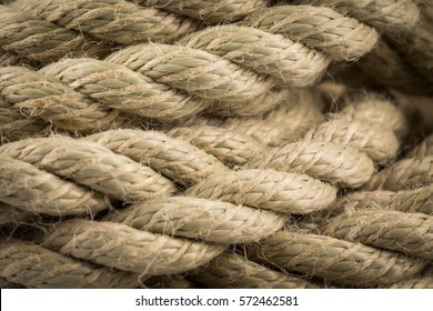 Close-up of old frayed boat rope as a background