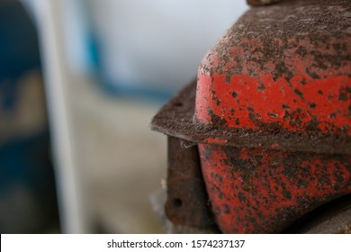 Close-up Old Fuel tank of water pump.