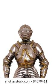 closeup old medieval armour