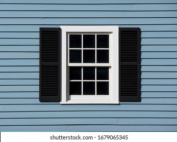 Close-up of an old retro-style window