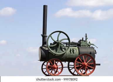 Close-up of Old Steam engine