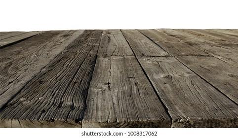 Closeup of old wooden floor boards