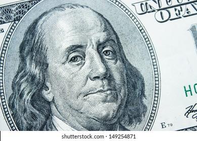 Close-up on Benjamin Franklin