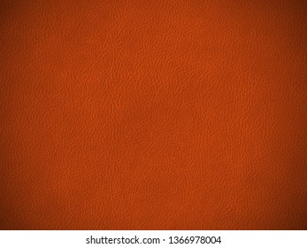 Close-up on brown leather texture background, full frame, top view