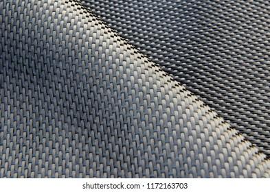 Close-up on carbon fiber fabric material
