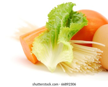 Closeup on cooking fresh foods
