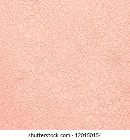 Closeup on cracked pink leather texture background.