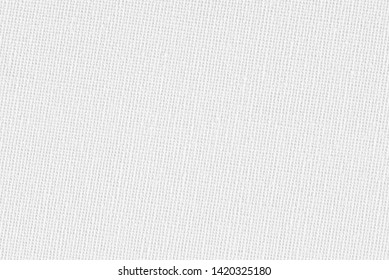 close-up on detail of White canvas texture background