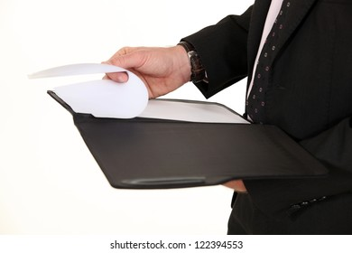 Closeup on a notepad