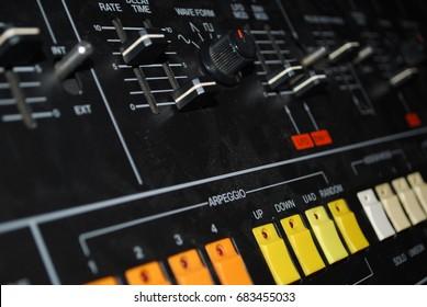 Closeup On Piano, Keyboard - Keys On Synthesizer - Music Instrument