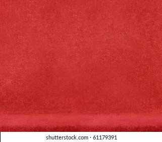 closeup on a red velvet chair
