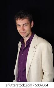 closeup on young businessman