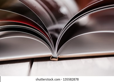 Closeup of opened book pages. Education concept.