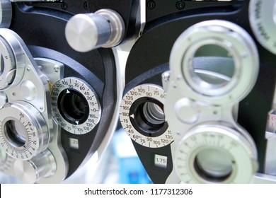 Close-up of Optometry Phoropter
