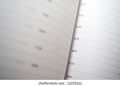closeup of organiser