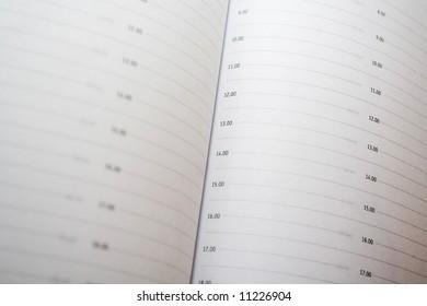 close-up of organizer