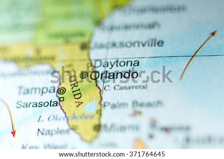 Political Map Of Florida.Closeup Orlando Florida On Political Map Stock Photo Edit Now