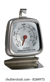 Closeup of Oven Thermometer isolated over white background