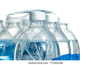 Closeup of a pack of 1,5 liter bottled water