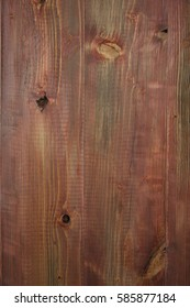 closeup of the painted wooden fence