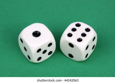 Closeup of a pair of dices