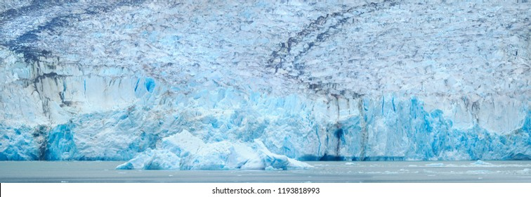 Closeup Panorama of the Dawes Glacier on the Endicott Arm, Alaska