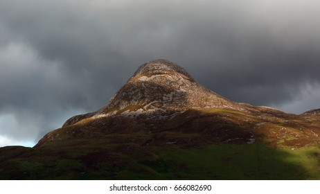 Close-up of the Pap of Glencoe (with telephoto)