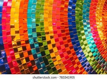 Closeup of paper umbrella texture background