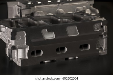 Close-up of part of engine. Industrial