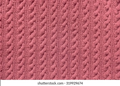 Close-up of pattern of sweater texture.