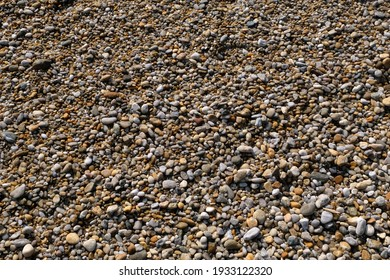 Close-up of pebbles on a beach in Brittany