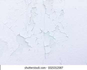 Closeup of peeling painted wall