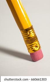 Closeup of a pencil eraser.