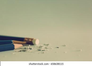 Closeup of pencil eraser , soft focus. Mistake erase concept