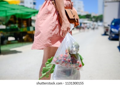 Closeup of people buying fruits. Farm market shopping background. Real purchasing selling natural healthylifestyle candid image.
