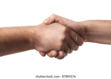 Closeup of people shaking hands