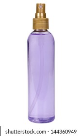 Close-up of a perfume spray bottle