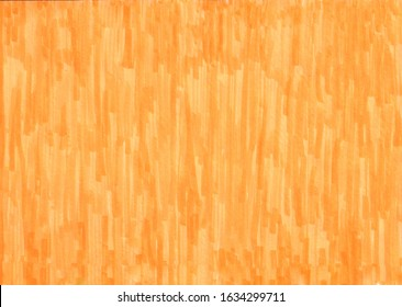 closeup of permanent orange marker doodles pattern texture brushes on white background