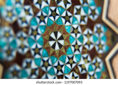 Close-up from the Persian artwork of Girih and Khatam