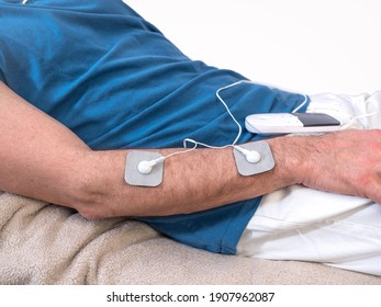 Close-up Of Person With Electrodes On Shoulder - Shutterstock ID 1907962087